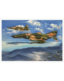 Aviation Art Painting ''Over Thasos Island'' - medium size print