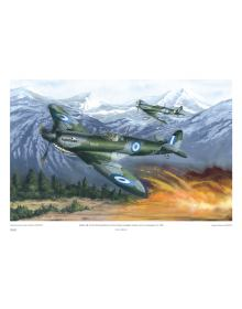 ''Spitfires Mk. IX of the R.H.A.F. during the Greek Civil War, 1948'' (print 50 Χ 35 cm)