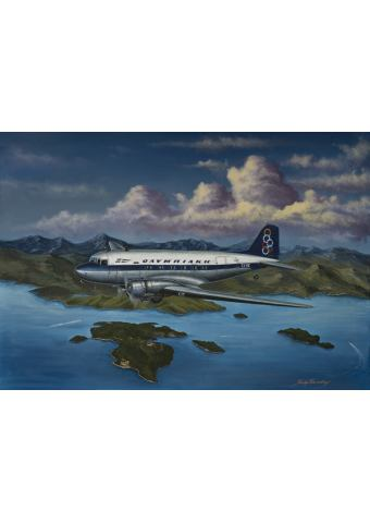 Limited Edition Art print ''Flying over Onassis island''