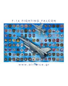 F-16 Fighting Falcon (Poster Airforce.gr)