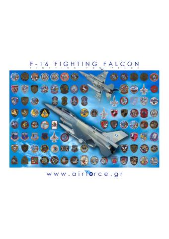 HAF F-16 FIGHTING FALCON (Poster Airforce.gr)