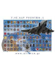 POSTER AIRFORCE.GR: ''H.A.F. F-4's SQUADRON PATCHES''