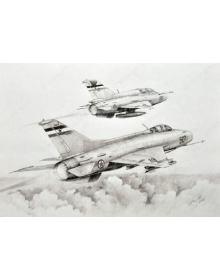 ''MiGs in formation'' art print