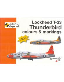 Lockheed T-33 Thunderbird Colours & Markings 1/72