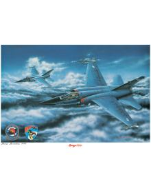Aviation Art Painting MIRAGE F.1CG - medium size print