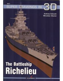 The Battleship Richelieu, Super Drawings in 3D no 17, Kagero