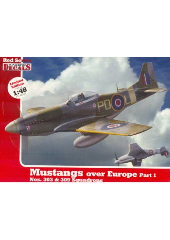 Mustangs over Europe Part I - 1/48, Red Series 03, Kagero Publications