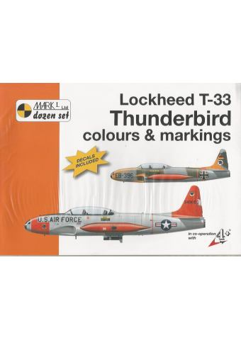 Lockheed T-33 Thunderbird Colours & Markings 1/32, Mark I