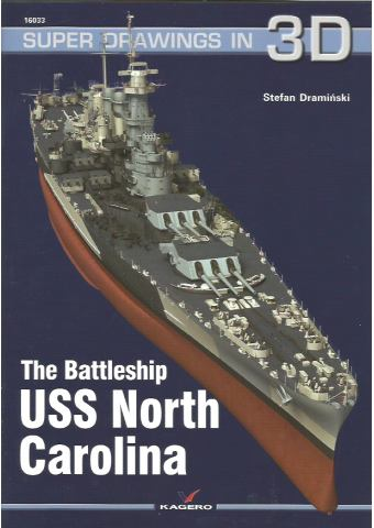 USS North Carolina, Super Drawings in 3D No 33, Kagero