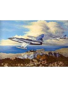 Aviation Art Painting ''All Time Classics'' - Canvas print 50 X 35 cm.