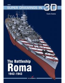The Battleship Roma, Super Drawings in 3D No 40, Kagero