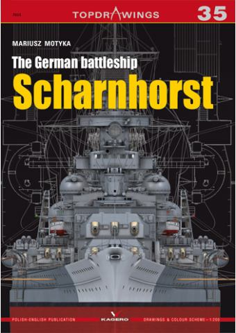 The German Battleship Scharnhorst, TopDrawings 35, Kagero