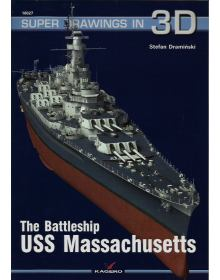 The Battleship USS Massachusetts, Super Drawings in 3D No 27, Kagero