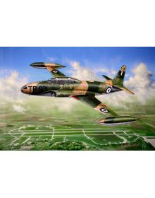 Aviation Art Painting ''T-33A Silver Star'' - Canvas print 50 X 37.5 cm.