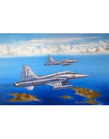 Aviation Art Painting HAF F-5A FREEDOM FIGHTER - Canvas print 50 X 32 cm.