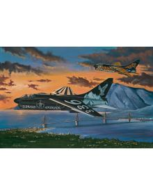 Aviation Art Painting ''The Last Corsairs'' - Canvas print 44.5 X 33 cm.