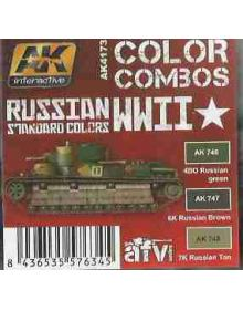 Russian WWII Standard Colors, AK Interactive