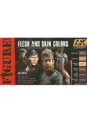 Flesh and Skin Colors, AK Interactive