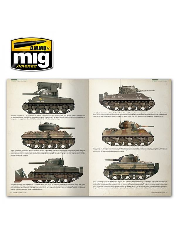 Sherman book - Camouflage Profile Guide by Ammo of Mig Jimenez