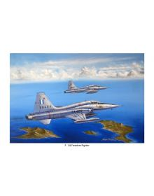 Aviation Art Painting HAF F-5A FREEDOM FIGHTER - medium size print