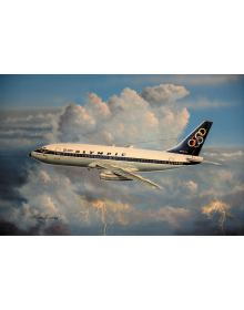 Aviation Art Painting: Olympic Airways Boeing 737 (Canvas print)