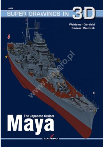 Japanese Cruiser Maya, Super Drawings In 3D No 58, Kagero