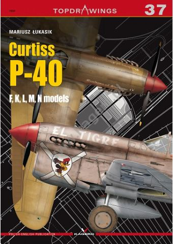Curtiss P-40 F,K,L,M,N models, Topdrawings 37, Kagero