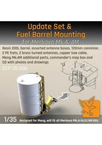 Update Set and Fuel Barrel Mounting for Merkava Mk.4/4M - 1/35