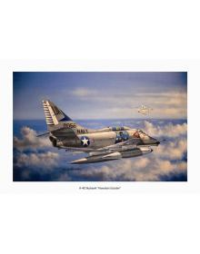 Aviation Art Painting A-4E Skyhawk ''Hawaiian Scooter'' - Medium size Print