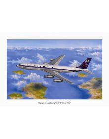 Aviation Art Painting: Olympic Airways Boeing 707 - medium size print