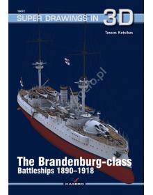 The Brandenburg - class Battleships 1890-1918, Super Drawings in 3D No 72, Kagero