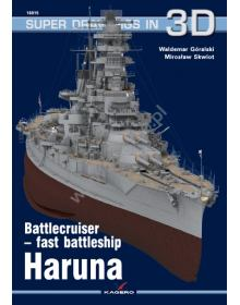 Battlecruiser-Fast Battleship Haruna, Super Drawings in 3D No 15, Kagero