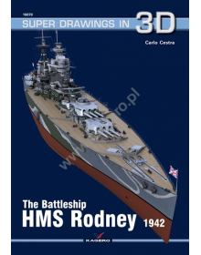 The Battleship HMS Rodney, Super Drawings in 3D No 70, Kagero
