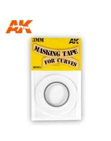 Masking Tape for Curves 3 mm. 18 Meters Long, AK Interactive