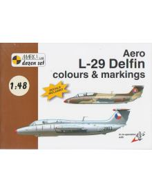 Aero L-29 Delfin Colours & Markings 1/48, Mark I