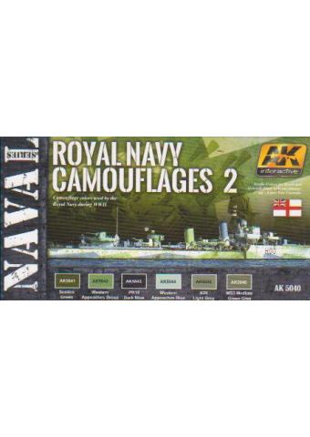 Royal Navy Camouflages 2 - Naval Series Set, AK Interactive