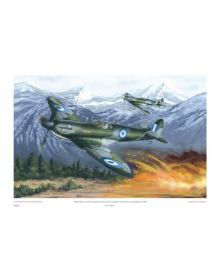 ''Spitfires Mk. IX of the R.H.A.F. during the Greek Civil War, 1948'' (print 70 Χ 50 cm)