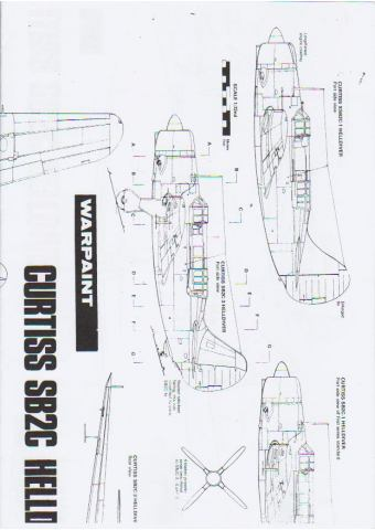Curtiss SB2C Helldiver - Warpaint 1/72 Scale Drawings